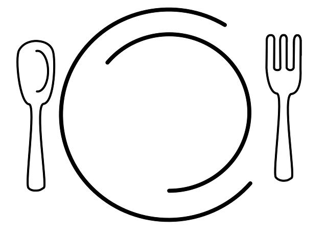 talíř a příbor