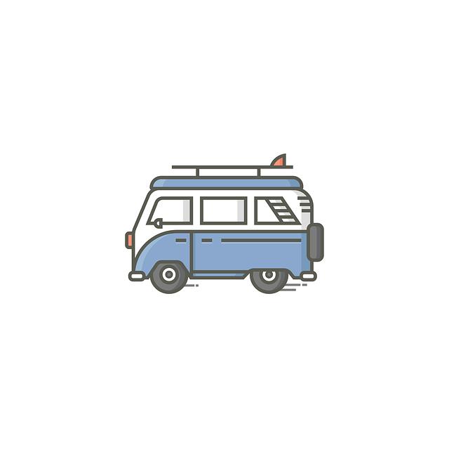 minibus, ilustrace
